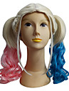 Suicide Squad harley quinn perruque farceur perruque costume long ondule couleur gradient cosplay perruque 2 ponytails