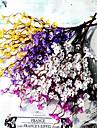1 Une succursale Plastique Prune Fleur de Table Fleurs artificielles