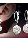 Hoop Earrings Women\'s Alloy Earring Rhinestone