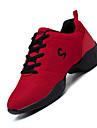 Chaussures de danse(Noir Rouge Blanc) -Non Personnalisables-Talon Bottier-Tissu-Baskets de Danse