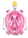 Dykmasker Snorkelmask Heltäckande ansiktsmasker Anti-Fog Torrdräkt – överdel Dykning och snorkling Silikon Röd Blå Svart