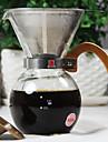 250 ml Acier Inoxydable Verre Set pour le Cafe , 2 tasses Brew Coffee Fabricant Reutilisable