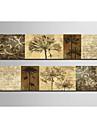 Reproduction transferee sur toile botanique ensemble des 2 1301-0204