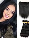 One Pack Solution Cheveux Malaisiens Droit 12 mois 5 Pieces tissages de cheveux