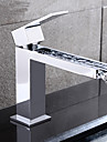 Contemporain Vasque Cascade with  Soupape ceramique Mitigeur un trou for  Chrome , Robinet lavabo