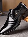 Bărbați Oxfords Confortabili Microfibre Primăvară Toamnă Casual Plimbare Confortabili Dantelă Combinată Toc Jos Negru Sub 2.5 cm
