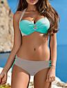 Dame Acrilic Spandex Cu Susținere,Bikini Monocolor Bloc Culoare