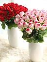 1 Une succursale Polyester Plastique Roses Fleur de Table Fleurs artificielles 42