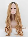 kylie de style jenner longue vague saccadee cheveux perruque racine noire perruques blond melange de ombre