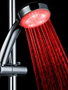 Contemporain Douchette Chrome Fonctionnalite for  LED Effet pluie Ecologique , Pomme de douche