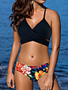 Femei Bikini Femei Cu Susținere Floral Sport Dantelat Polyester