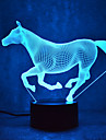 Noel cheval touch gradation 3d led nuit lumiere 7colorful decoration atmosphere lampe nouveaute eclairage lumiere noel