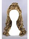 perruque de cheveux moyen cendrillon long vague brune 22inch synthetique l\'anime lolita cosplay perruque cs-250a