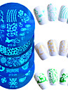 1pcs vente chaude joli mode plaque d\'estampage en acier inoxydable nail design cartoon belle pochoirs manucure outil de bricolage pour la