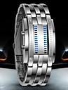 Bărbați Ceas de Mână Ceas digital Piloane de Menținut Carnea LED Rezistent la Apă Oțel inoxidabil Bandă Luxos Negru Argint Negru Argintiu