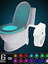 Ywxlight® ip65 16 couleurs active pour le mouvement de la lumiere de la nuit de la toilette dans toute la toilette impermeable a l\'eau, la