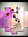 Impression d\'Art A fleurs/Botanique Classique,Cinq Panneaux Format Horizontal Imprime Decoration murale For Decoration d\'interieur