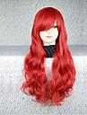 Peruci de Cosplay Cosplay Cosplay Mediu Buclat Anime Peruci de Cosplay 75 CM Fibră Rezistentă la Căldură