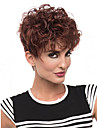 Femme Perruque Synthetique Sans bonnet Court Frises Marron Perruque afro-americaine Pour Cheveux Africains Perruque Naturelle Perruque