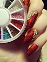 1mm 3d decoration d\'oeil decoration or argent perles colorees roues tout pour nails diy nail ball wheel