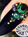 1 boite 230pcs rallonges a ongles nouvellement rondes a l\'arriere acrylique uv gel decor manucure nail art decoration dans la roue