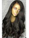 Femme Perruque Naturelle Dentelle Bresiliens Cheveux humains Lace Front Sans Colle Lace Front 130% Densite Avec Frange Avec Meches Avant