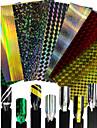 1pcs mode design colore ongle art diy laser ligne autocollant nail art laser glitter ligne decoration pour nail art beauty 1-9