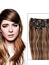 7 pieces / set p4 / 27 couleur piano pince blond melange brun dans les extensions de cheveux 14inch 18inch 100% cheveux humains