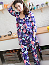 3pcs model floral confortabil set pijamale super-moale