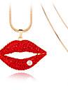 Pentru femei Coliere cu Pandativ Cristal Design Unic La modă Personalizat Euramerican Alb Rosu Bijuterii Pentru Nuntă Petrecere 1 buc