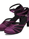Chaussures de danse(Noir Violet) -Personnalisables-Talon Personnalise-Satin-Modernes