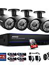 Annke® 8ch 1080p 4pcs hd video poe ip rețea cctv ahd dvr cameră impermeabilă sistem de securitate viziune 1tb