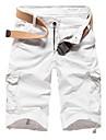 Bărbați Drept Vintage Simplu Șic Stradă Talie Medie,Micro-elastic Pantaloni Scurți Pantaloni Mată
