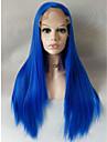 Longue perruque frontale en dentelle couleur resistante a la chaleur