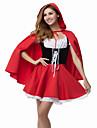 Costumes de Cosplay Costume de Soiree Conte de Fee Fete / Celebration Deguisement d\'Halloween Rouge Mosaique Robe ManteauHalloween