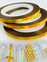30pcs / box 3mm fashion laser gold nail art scintillement en feuille striping tape line sticker arc-en-ciel decoration etincelante