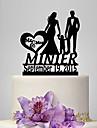 Vârfuri de Tort Personalizat Cuplu Clasic Acrilic Zi de Naștere Nuntă Aniversare Petrecerea Bridal Shower Petrecerea Baby ShowerTemă