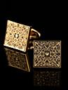 Buton Tie Bar Tie clip Articole de ceramică La modă Cutii de cadouri & Pungi Μανικετόκουμπα Auriu Argint 1 pereche