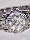 pentru Doamne Ceas Elegant Ceas La Modă Ceas de Mână Unic Creative ceas Simulat Diamant Ceas Chineză Quartz / Ștras Oțel inoxidabil Bandă