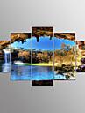 Imprimeu pânză întins Peisaj Modern,Cinci Panouri Canava Orice formă print Arta Decor de perete For Pagina de decorare