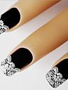 Autocollants a ongles 5pcs 3D en dentelle blanche