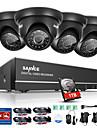 Sannc® 8ch 4pcs 720p hd camera 1080n dvr sistem de securitate intemperii usor de monitorizare mobila 1tb