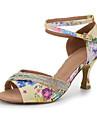Chaussures de danse() -Personnalisables-Talon Bobine-Soie-Latines