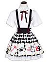 Ținute Lolita dulce lolita Cosplay Rochii Lolita Modă Manșon scurt Scurt / Mini Pentru