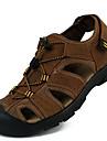 Bărbați Sandale Confortabili Piele Primăvară Vară Toamnă Casual Rochie Pantofi Upstream Confortabili Maro Deschis 2.5 - 4.5 cm