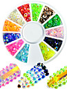1pcs mode melange colorfu belle resine gelee rhinestone ongle art rond disque glitter strass nail art diy beaute brillance decoration