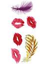 Tatouages Autocollants Series de totem Serie romantique Motif Bas du Dos ImpermeableHomme Femme Adolescent Tatouage TemporaireTatouages