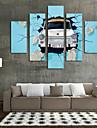 Impression d\'Art Nature morte Moderne,Cinq Panneaux Format Horizontal Imprime Decoration murale For Decoration d\'interieur