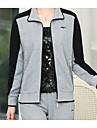 Damă Stand Hanorac cu Glugă Pantaloni Costume Manșon Lung Toamnă Micro-elastic