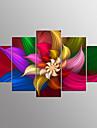 Impression sur ToileCinq Panneaux Format Horizontal Imprime Decoration murale For Decoration d\'interieur